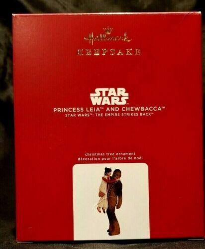 2020 Hallmark Ornament Princess Leia  & Chewbacca Star Wars Empire Strikes Back