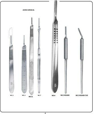 2 Brand New Assorted Scalpel Knife Handles Surgical Veterinary Instruments