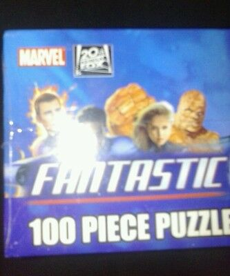 Marvel Comics THE FANTASTIC FOUR movie 100 Piece PUZZLE 2005 NEW sealed pressman