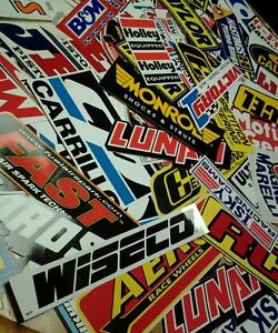 Lot of 15+ Racing Decal Contingency Stickers Stock Car Dragster Nascar NHRA