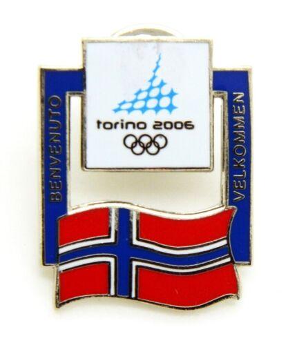 Pin Brooch Olympics Torino 2006 - Flags - Flag Norway, CM 2 x 2,5