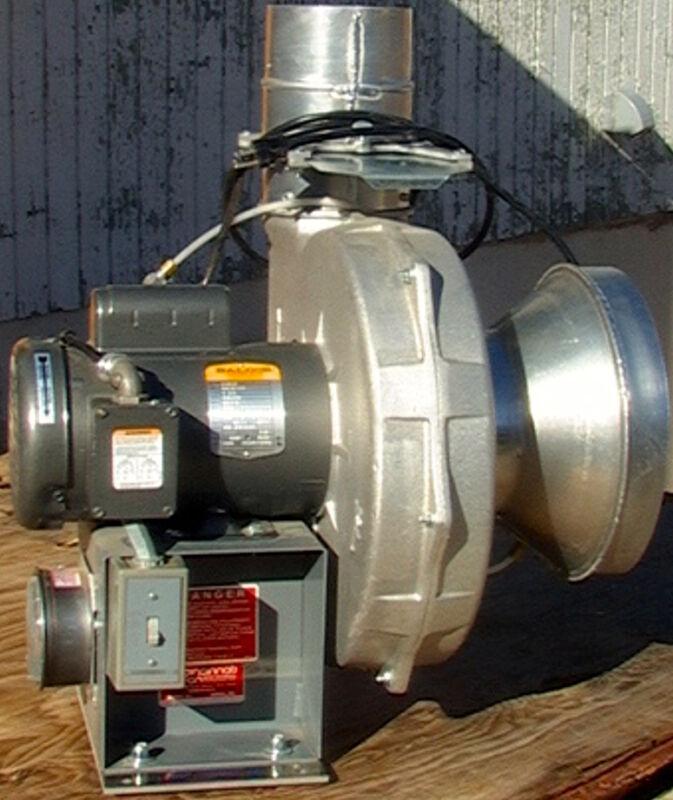 1.5HP Cincinnati PB Series Cast Aluminum Pressure Exhast Vent Fan Blower+ gauge