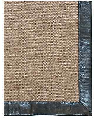 Classic Home Rugs - Leather Border Pampas Coffee Rug - CH30078103  2' 6