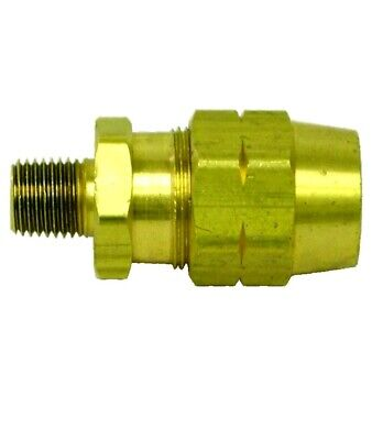 Tectran 106-8 Brass Reusable Fitting 12 Hose I.d 38 Pipe Thread Pack Of 5