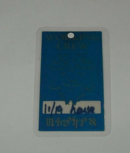 LAMINATED UNUSED OTTO SATIN CONCERT BACKSTAGE PASS DANZIG 11/19 HOUSE with LOGO