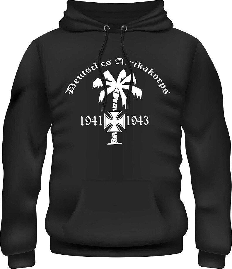 Kapuzensweatshirt,Pullover,Afrikakorps,Reichsadler,Deutsches Reich,Ewig Treu,Top