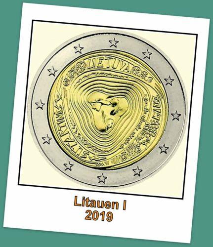2 Euro Gedenkmünze Litauen 2019 - Litauische Volkslieder Sutartinės - lieferbar