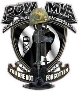 POW MIA YOU ARE NOT FORGOTTEN  Decal 5