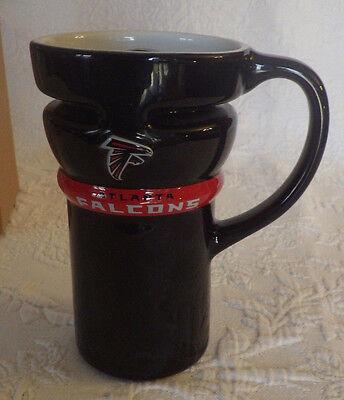 "Atlanta Falcons Ceramic Travel Coffee Mug Tea Cup New 6"" Tall NFL Super Bowl"