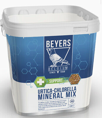 BEYERS URTICA CHLORELLA Pigeon Bird Poultry Mineral Mix Racing 5KG BMFD DS