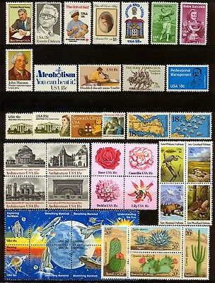 US USA 1981 Commemorative Year Set collection of 42 stamps Mint NH