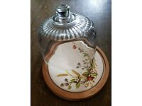 Glass domed serving dish