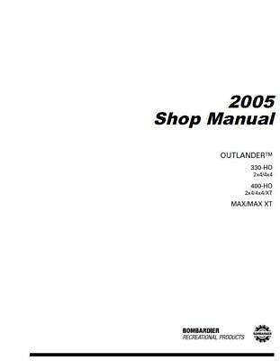 2005 Bombardier (Can-Am) ATV Outlander 330 / 400 / MAX service manual on CD