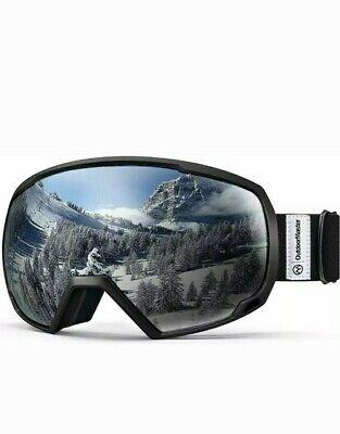 OutdoorMaster OTG Ski Goggles - Over Glasses Ski/Snowboard Goggles for Men, Wome