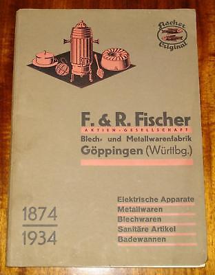 30's GERMAN METALWARE CATALOG - HOUSEHOLD KITCHEN GOODS - F.&R. Fischer