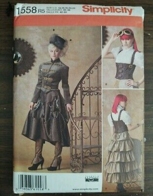 Victorian Steampunk Costume Misses size 14-22 Simplicity 1558 R5 Sewing Pattern