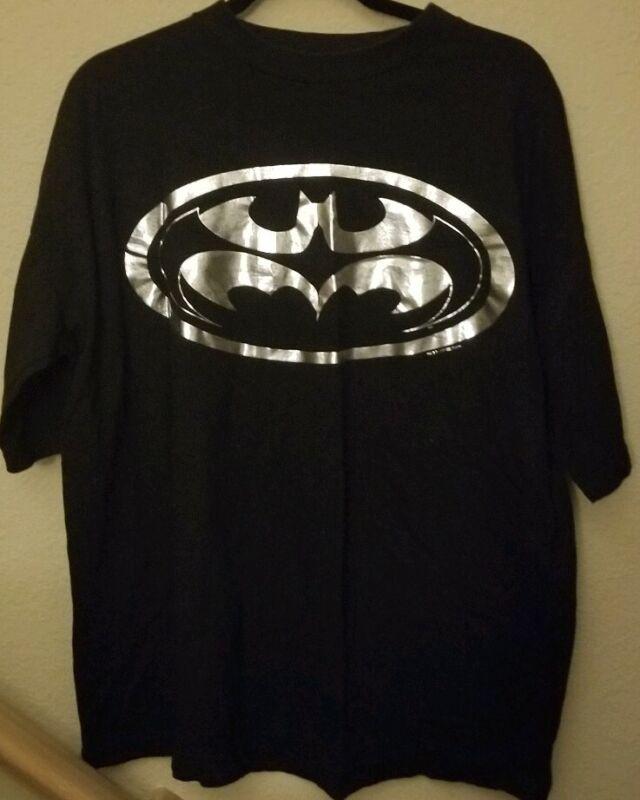 BATMAN Vintage T-Shirt Size XL 1997 Black DC Comics