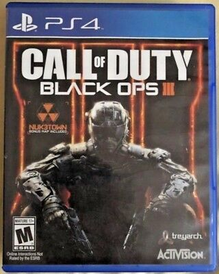Call Of Duty  Black Ops Iii  Sony Playstation 4  2015  Used   Ps4   Cod Bo 3