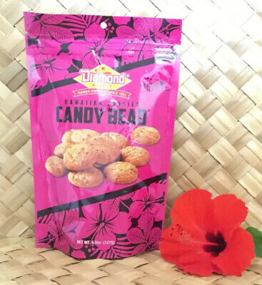 Diamond Bakery Hawaiian Candy Bead ShortBread Bite Size Cookies Baked In -
