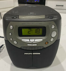Philips Magnavox AJ3910/37 Alarm Clock CD Player Radio Tested Works Great!