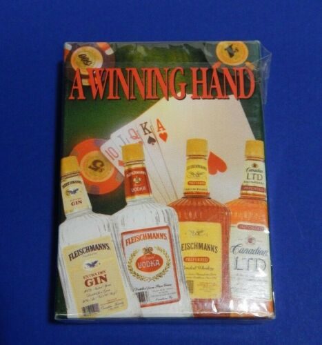 Playing cards vintage A Winning Hand Fleischmann