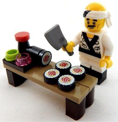 LEGO SUSHI LOT with CHEF Ninjago Minifigure