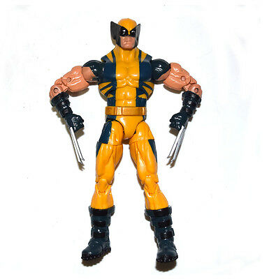 "Marvel Legends Wolverine Logan Yellow Puck Series 6"" Action Figure Loose"