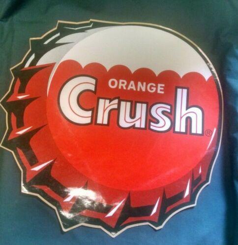 "c1960s  NOS 16"" Orange Crush soda bottle cap sticker decal"