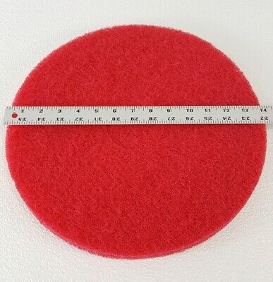 Case Of 5 Red Buff 14 Machine Floor Cleaning Pads Scrubbing Strip Polish
