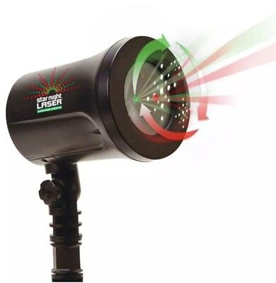 Star Night Christmas Laser Red Green Dancing Star Shower Motion  As Seen On Tv