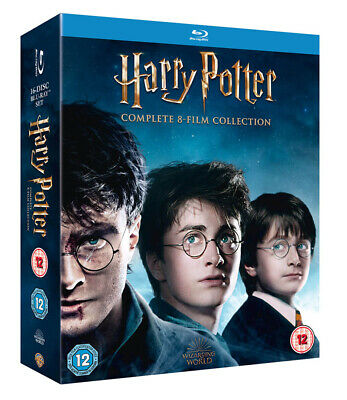 HARRY POTTER Complete 8-Film Collection [Blu-ray] All 1-8 Movies 16-Disc Box