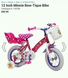 "12"" minnie mouse bike"