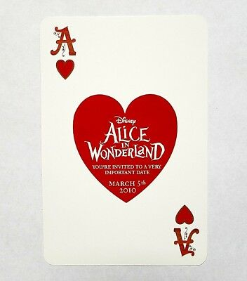 RARE 2010 6-INCH ALICE IN WONDERLAND MOVIE PROMO DISNEY CARD - QUEEN OF HEARTS