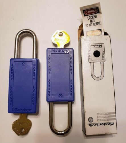 Two New Master Lock Lockout/Tagout Locks 1-1/2IN (38MM)  Shackles