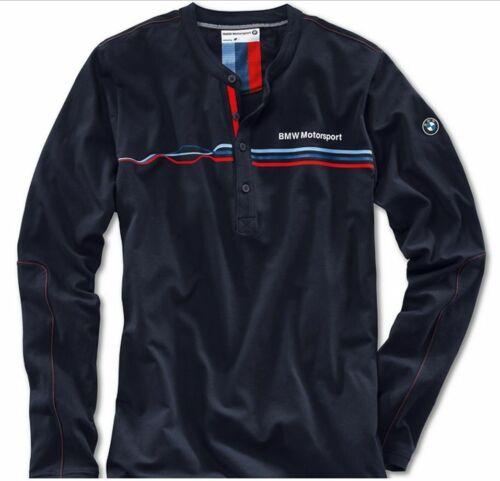 BMW Genuine Motorsport Mens Blue Casual Leisure Long Sleeved T-Shirt Top BNWT