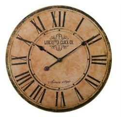 Lancaster Clock Company Wall Clock Round 23 Diameter Battery Operated