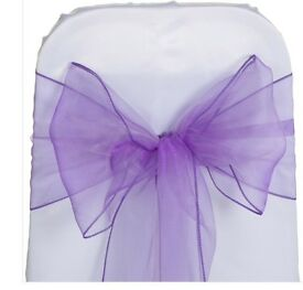 40 lilac wedding chair sashes