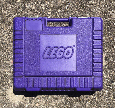 RARE Vintage 1985 Violet Lego Travel Hard Plastic Case with Handle from set 6271
