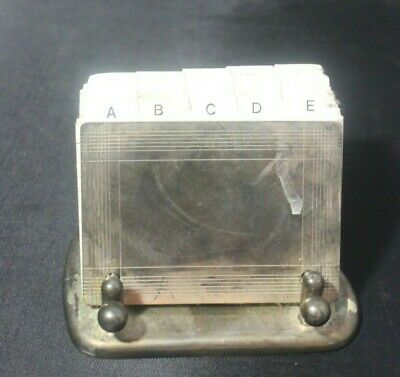 Silver Plate Index Card Holder