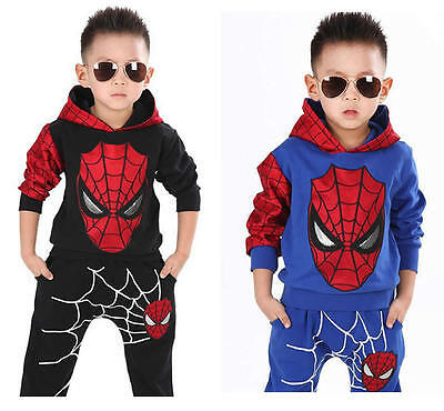 2Pcs Baby Boy Kids Spiderman Cosplay Costume Halloween Tops+Pants Trousers - Spiderman Baby Costume