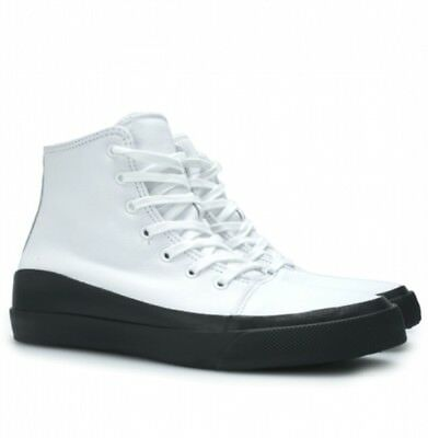 Converse AS Quantum Hi White Leather Sneaker Men's 8 Women's 10 Clean Look NEW