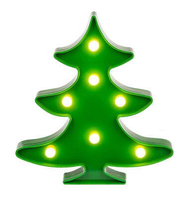 4x LED Tannenbaum Leuchtend Weihnachtsbaum Grün Deko Baum Christbaum Christmas ()