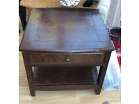 SOLID BROWN SIDE TABLE