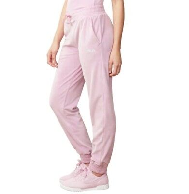 Fila Olympia Velour Track Pants - Womens Orchid Size Small New -