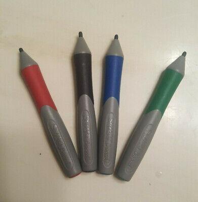 Set - 4 Original Smartboard Stylus Marker Pens Red Green Blue Black