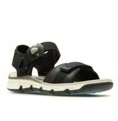 New Men/'s Clarks Explore Part Grey Nubuck Open Toe Sandals Size UK 10 10.5 11G