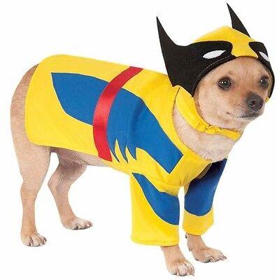 Wolverine Superhelden Halloween Kleidung Kostüm Kleid Outfit (Hund Halloween-kleidung)