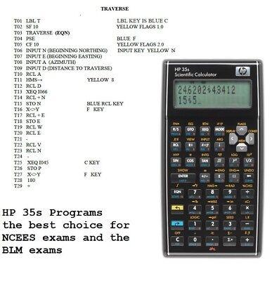 Hp 33s, Hp 35s, HP-33S 32S Calculator COGO programs