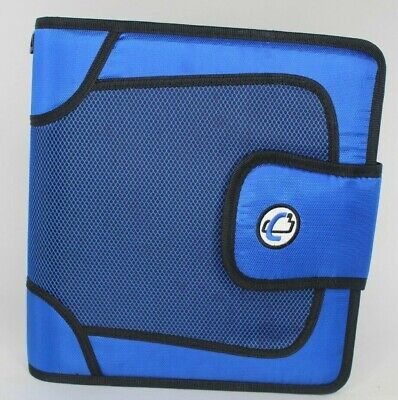 Case-it The Open Tab 3 Ring Binder 2 Capacity File Storage Blue T-618