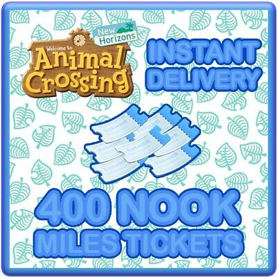 Animal Crossing New Horizons 400 Nook Miles Tickets